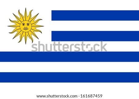 Shutterstock original and simple Uruguay flag isolated vector in official colors and Proportion Correctly