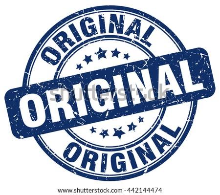original blue grunge round