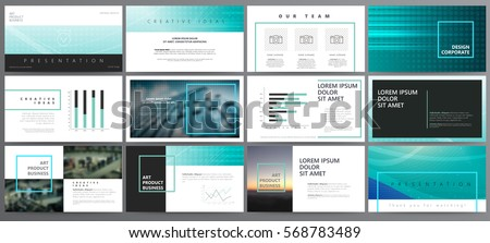 Original blue Presentation templates or corporate booklet.  Easy Use in creative flyer and style info banner, trendy strategy mockups.  Simple modern Slideshow or Startup. ppt.