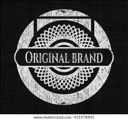 Original Brand chalk emblem