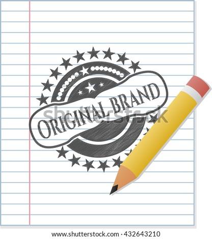 Original Brand drawn with pencil strokes