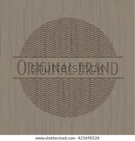 Original Brand retro wood emblem