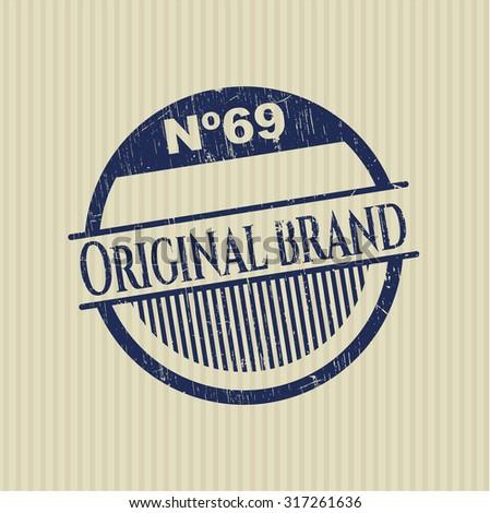 Original Brand rubber grunge stamp