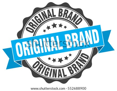 original brand stamp sticker
