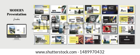Original Business Presentation templates or corporate booklet. Easy Use in creative flyer and style info banner, trendy strategy mockups. Simple modern Slideshow, webinar or Startup. ppt.
