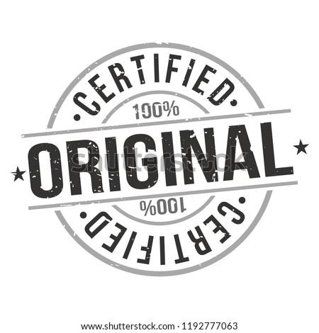 Original Certified Quality Original Stamp Design Vector Art Round Seal Badge. Stock photo ©