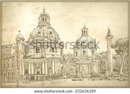 original digital drawing of