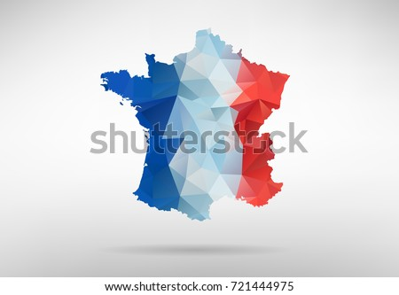 original french map vector