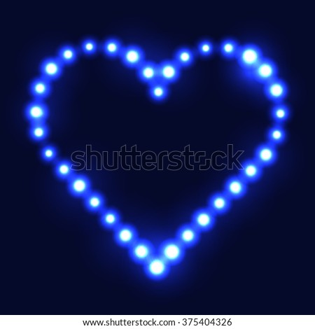 original heart made from blue