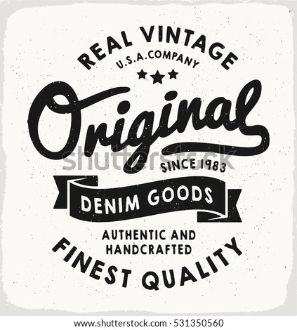 original heritage denim print