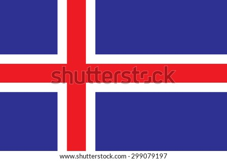 original iceland flag vector in