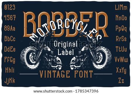 original label font named