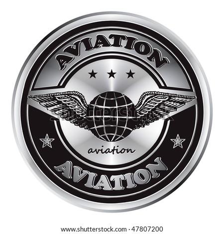 Original metal medal  inscription aviation.