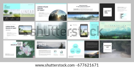 Original Presentation templates or corporate booklet.  Easy Use in creative flyer and style info banner, trendy strategy mockups.  Simple modern Slideshow or Startup. ppt.  #677621671