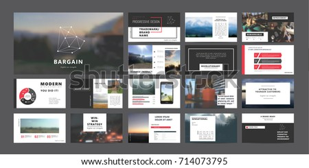 Original Presentation templates or corporate booklet.  Easy Use in creative flyer and style info banner, trendy strategy mockups.  Simple modern Slideshow or Startup. ppt. #714073795