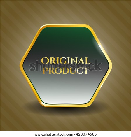 Original Product gold badge or emblem
