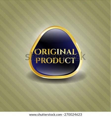 Original product gold shiny emblem