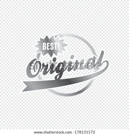 original product label - stock vector