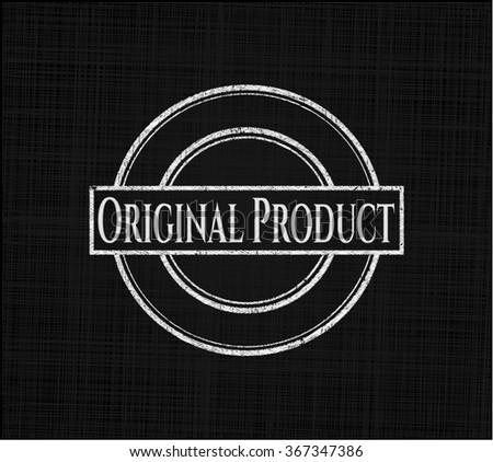 Original Product on chalkboard