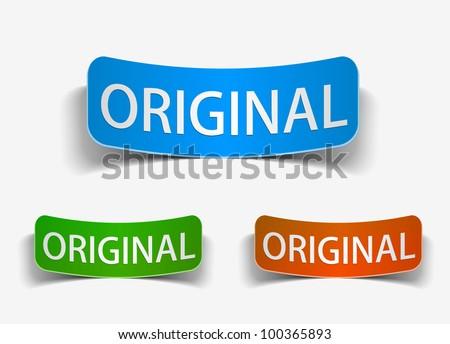 original product promotion vector label & sticker.