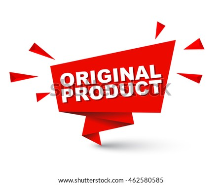 original product  red vector