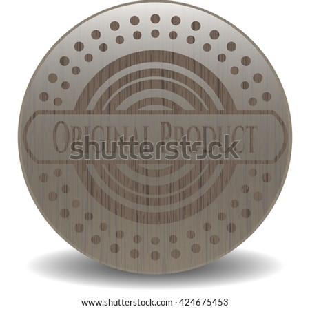 Original Product wooden emblem