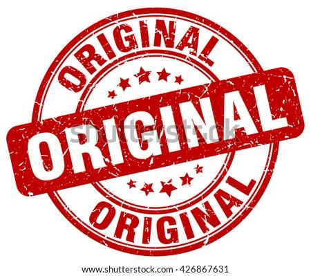 original red grunge round