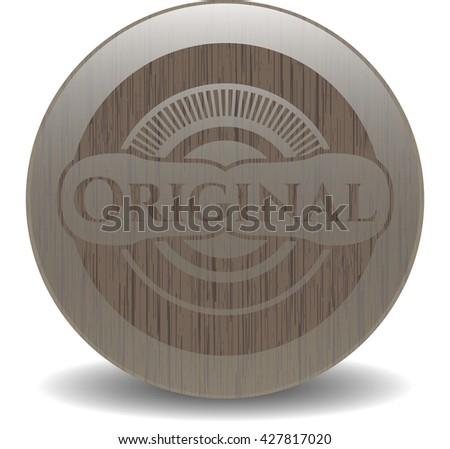 Original retro wood emblem