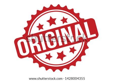 Original Rubber Stamp. Original Stamp Seal – Vector Stock photo ©
