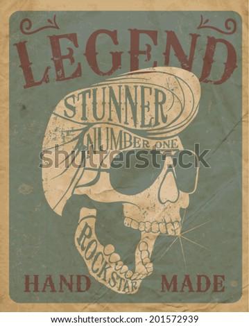 original skull vector vintage