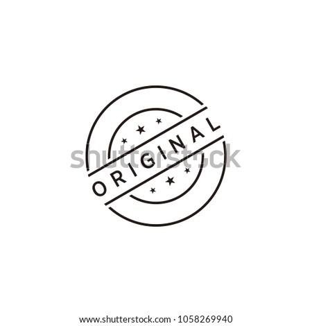 Original stamp icon symbol Stock photo ©