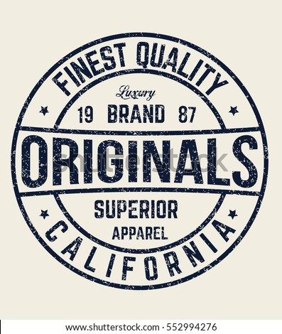 original t shirt typography