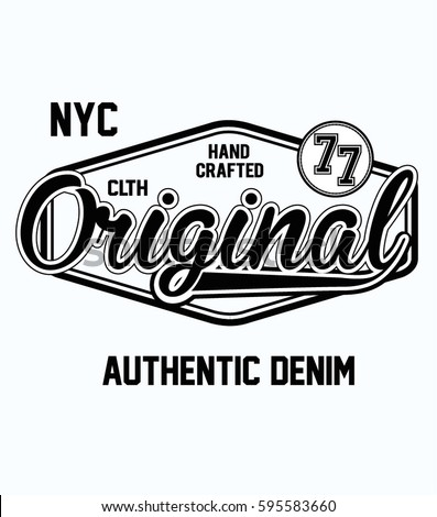 original t shirt typography