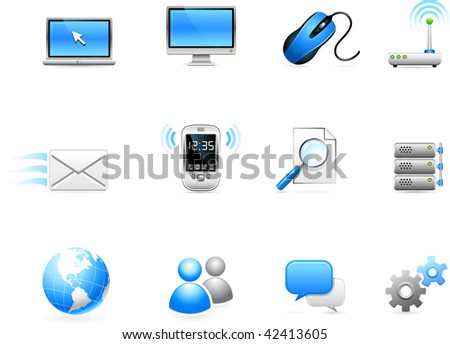 Original vector illustration: Communication technology icon collection