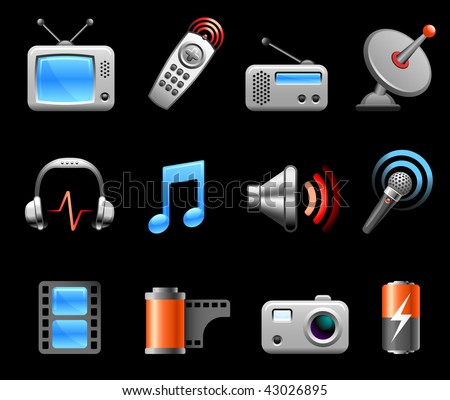 Original vector illustration: Electronics and Media icon collection