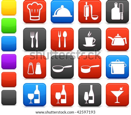 Original vector illustration: food and kitchen equipment