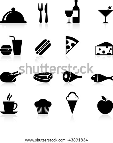 Original vector illustration: Food icons