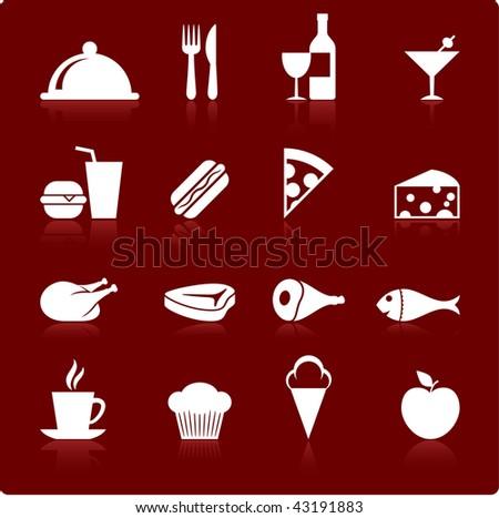 Original vector illustration: gourmet food icon set