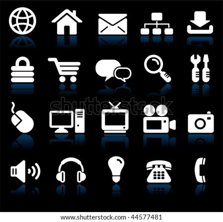 Original vector illustration: internet design icon set - stock vector