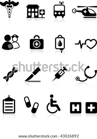 Original vector illustration: medical hospital  internet icon collection
