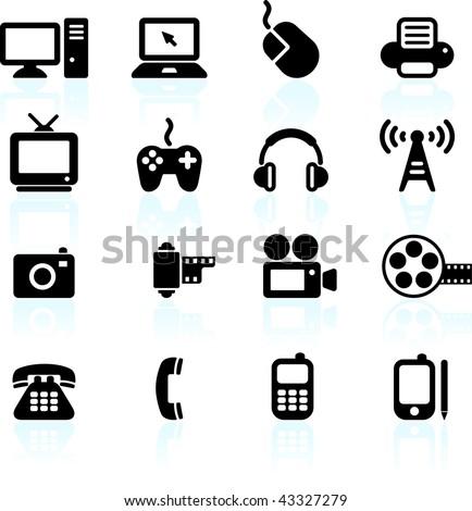 Original vector illustration: technology and communication design elements - stock vector