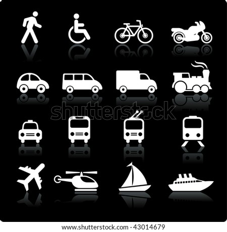 Original vector illustration: Transportation icons design elements