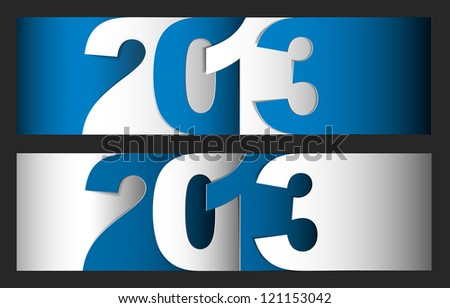Original Vector New Year 2013 card / illustration with place for your text