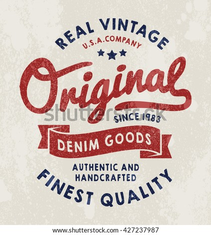 original vintage denim print