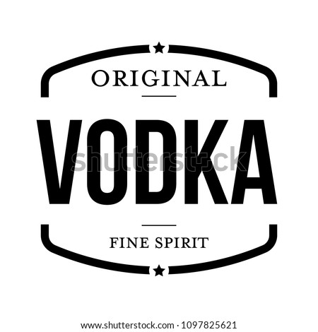 Original vodka vintage stamp