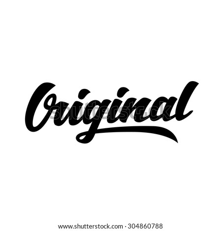 original word hand lettering