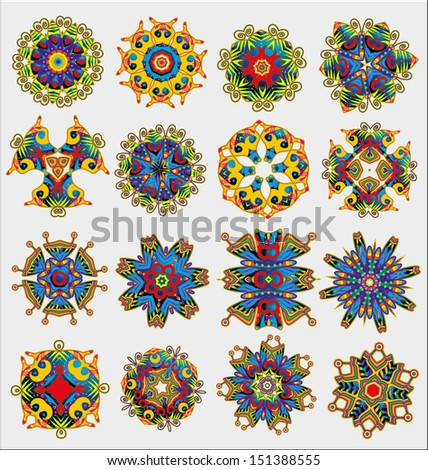 Originally created vector ornament collection for design embellishment