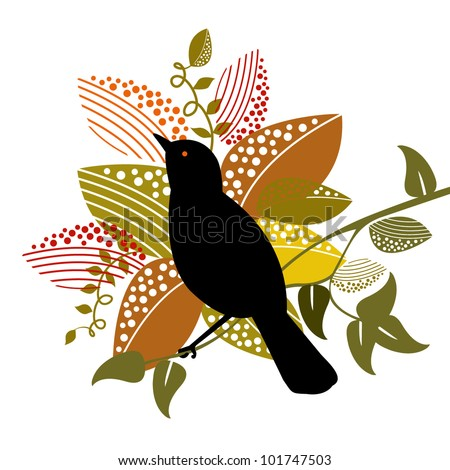oriole bird with foliage