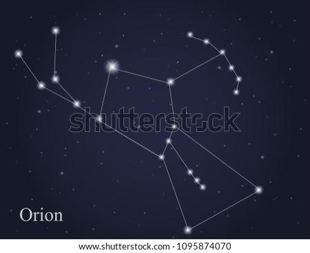 orion constellation on the