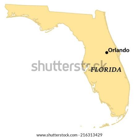 Orlando, Florida locate map